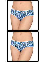 Набор женских трусов мини шорт - 2 шт. (Синий с белым)