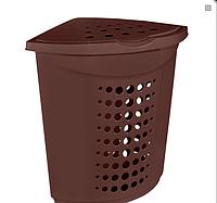 Корзина для белья (угловая) пластиковая 45 л