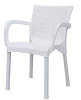 Кресло Орхидея под ротанг белое стул пластиковый