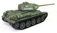 Танк р/у 1:16 Heng Long T-34 2.4GHz в металле с пневмопушкой и дымом (HL3909-1PRO) СЕРТИФИКАТ В ПОДАРОК