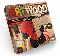 "Набор креативного творчества ""ARTWOOD"" часы Мишка с сердцем"