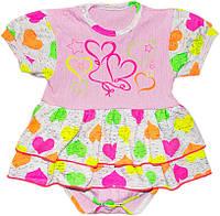 Боди-платье  для девочки р.62-86см