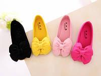 Туфли- балетки яркие с бантом