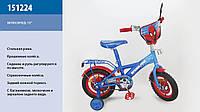 Велосипед двухколесный 12 дюймов ''Спайдер Мен'' 151224 (:)