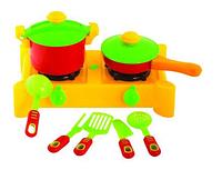 Плита с посудой, 8 предм., 30x17x18,5см, в сетке (10шт/уп)