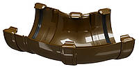 Угол универсальный водосточного желоба Regenau D125 (коричневый)