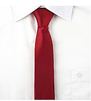 Галстук мужской узкий, красный