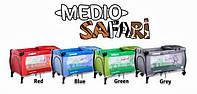 Детская кровать манеж Caretero Medio Safari