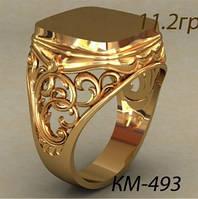 Классическая золотая Мужская печатка 585 пробы