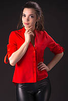 Стильная женская блуза красного цвета Миранда