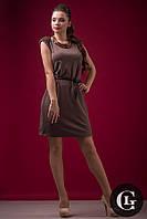 Скидка на женское элегантное платье с поясом от производителя