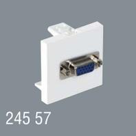 Розетка WGA 45x45 для монитора модульная для установки в люк, кабель-канал, настенный бокс