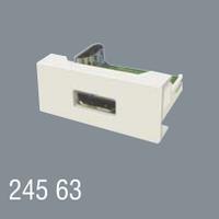 Розетка HDMI 45x22,5 модульная для установки в люк, кабель-канал, настенный бокс