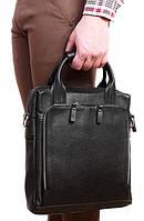 Кожаная сумка-трансформер для документов формата А4 черного цвета  Alvi av-20-6006