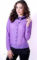 Шифоновая женская блуза с длинным рукавом 2060