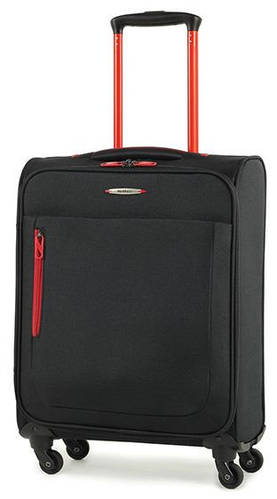 Комфортный тканевый 4-колесный чемодан 30 л. Members Hi-Lite (S), 922606 черный