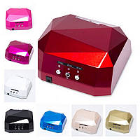 Лампа для ногтей UV CCFL+ LED светодиодная (уф + лед) для наращивания ногтей гелем, сушит гель-лак, 36 Вт