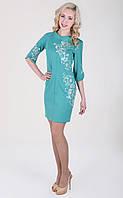 Очень эфэктное платье с модной вышивкой