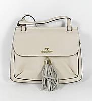 Бежевая компактная женская сумочка