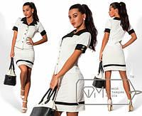Женский костюм: жакет с коротким рукавом + юбка. Разные цвета.