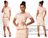 Женский костюм: блузка с коротким рукавом + юбка. Батист. Разные цвета.