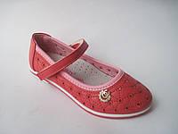 Детские летние туфли для девочки, стелька кожаная с супинатором, р. 26 - 31
