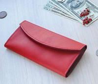 Женский кожаный кошелек портмоне Redex красный портмоне бумажник
