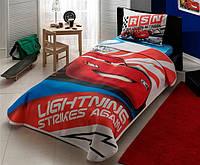 Постельное белье для подростков TAC Пике Cars Lightning (летнее покрывало)