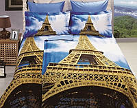 Семейное постельное белье  ARYA сатин 3D (70х70) Eifel Tower