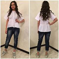 Женская летняя блуза с короткими рукавами