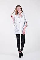 Нежная блуза туника с вышивкой на спинке, фото 1