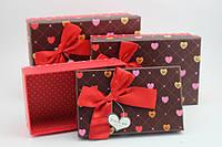 Упаковка для романтического подарка (коробочки в 3-х размерах)