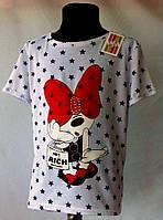 """Яркая туничка  - футболка  """"Мультяшка"""" для девочки 6-12 лет"""