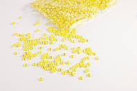 Полубусина жемчуг желтый перламутр 8мм