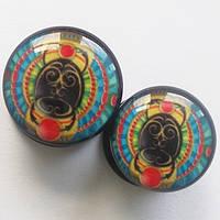 "Плаги ""Лето"" ( диаметр 10, 12 мм) для пирсинга ушей. Акрил."