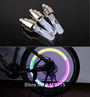 LED насадка на нипель подсветка колес для мото авто и велосипеда