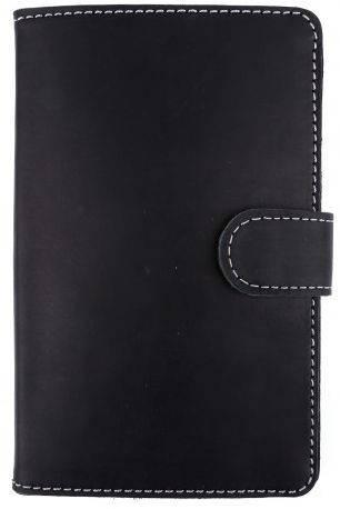"""Замечательный кожаный чехол планшета 7"""" на магните Black Brier PK7-35 черный"""