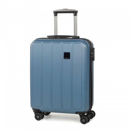 Неповторимый пластиковый 4-колесный чемодан 34 л. Members Nexa (S), 922595 голубой