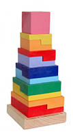 """Пирамидка """"Квадрат"""" (разноцветный)"""