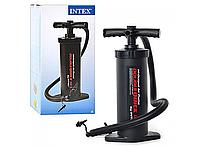 Насос для надувного матраса Intex 68605 Double Quick III S Hand Pump: клапан двойного действия, 1,2 кг