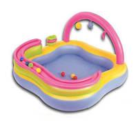 Детский надувной игровой центр BestWay 52125: 157*157*89 см, 151 л, 3 круга, 6 мячиков, 2,5 кг