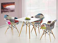 Стол обеденный деревянный PROMETHEUS квадратный белый Halmar