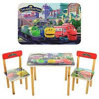 Детский стол и стульчики Чаггинтон 501-20, шикарный деревянный комплект, столешница и сидения из МДФ