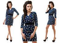 Платье креп в трёх расцветках , фото 1