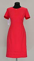 Строгое однотонное платье