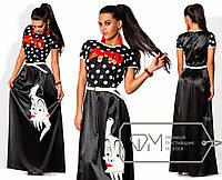 Стильное длинное молодежное платье 353 (2041)