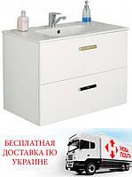 Шкафчик с умывальником Roca Victoria белый 80 см 855852806