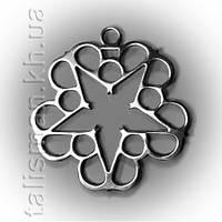 Кулон STN11 - Black Veil Brides (лого пентаграмма)