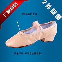 Балетки для танцев на каблуке кожа