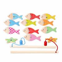IE586 Обучающая деревянная игрушка рыбалка